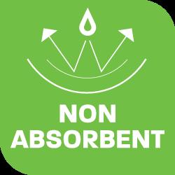 non-absorbent